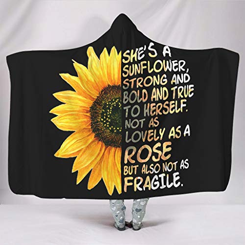 Dogedou She's a zonnebloem, sterk en stevig en trouw aan het harself. not sa Lovely su a Rose maar dus not as Fragile Sunflower woondeken super zachte Large All Season deken