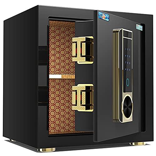 Caja fuerte de seguridad, caja fuerte con contraseña de huellas dactilares, caja fuerte antirrobo de aleación de acero, alarma dual, para oficina en casa/A / 35cm×34cm×40cm