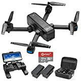 Contixo 4K GPS Quadcopter Drone with HD FPV Camera Live Video for Adults, Kids, Beginners, 4K FHD Gimbal Camera, Gesture Control, GPS Auto Return, Follow Me, 32 GB SD Card, Custom Case & 2 Batteries