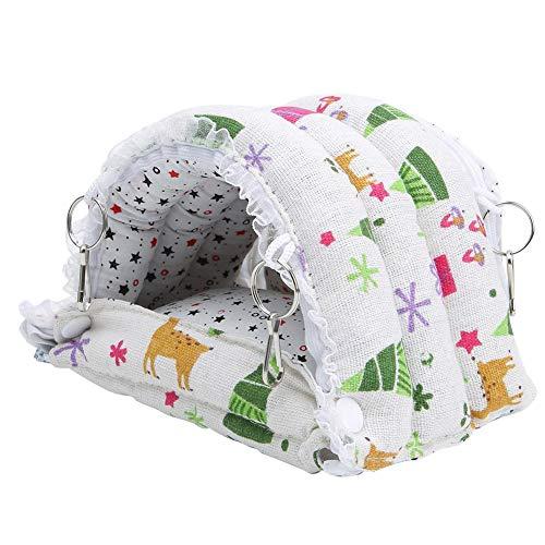 DAUERHAFT Nido de algodón para hámster Hamaca de Invierno para hámster Tela de Felpa Nido para Mascotas Durable Cómodo para Ardilla Chinchilla(Small)