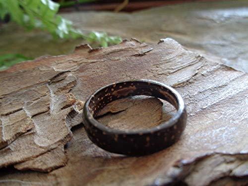 ⊹⊱❁ ANILLO PARA HOMBRE ANILLO COCO ANILLO COCO ANILLO NATURAL ❁⊰⊹ Joyería natural, anillo único, producto natural, anillo para hombre