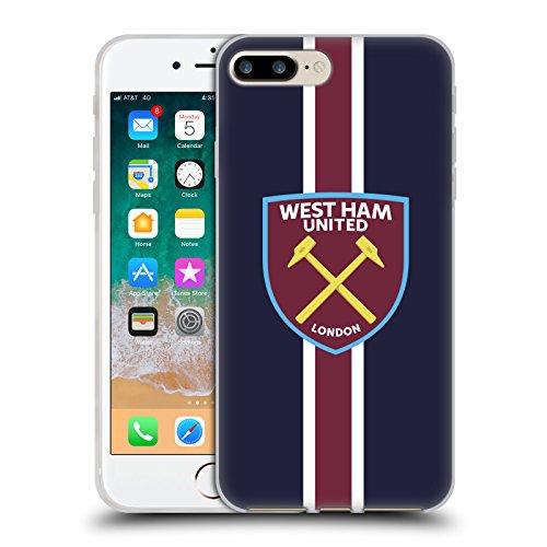 Head Case Designs Oficial West Ham United FC Rayas Cresta Carcasa de Gel de Silicona Compatible con Apple iPhone 7 Plus/iPhone 8 Plus
