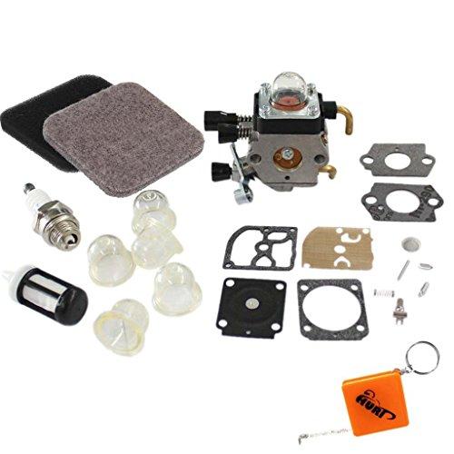 HURI Carburateur et Filtre à air Réparation membrane pour tihl FS75 FS80 FS85 HS75 HS80 HS85 KM85 Ersetzen C1Q-S71 C1Q-S97 A C1Q-S143 C1Q-S153 C1Q-S186 A B, 41401200619 B
