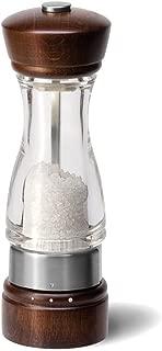 COLE & MASON Keswick Wood Salt Grinder - Wooden Mill Includes Gourmet Precision Mechanism and Premium Sea Salt