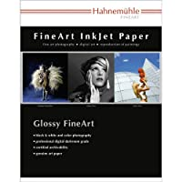 HahnemuhleサテンフォトRag、310gsm、100% Rag、Fine Lustre明るいホワイトインクジェット用紙、11x 17インチ、25シート