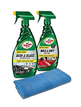 Turtle Wax 50836 Quick & Easy Interior & Exterior Kit with Microfiber Towel 49 Fluid_Ounces