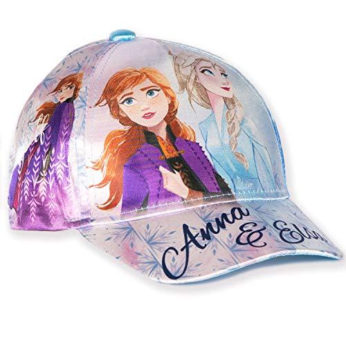 Disney Original Die Eiskönigin 2 Prinzessinnen Mädchen Baseballmützen, Sommerhut – Satin Stoff – 2-8 Jahre Gr. 6.375, Blau - Satin