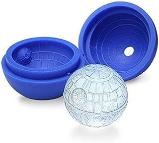 AIUIN - Molde de cubitos de hielo de Star Wars, de silicona, forma de estrella de muerte, forma de bola, forma redonda, para bolas
