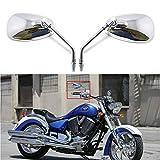 M10 10mm Retrovisores Moto Espejos Laterales para CBR600, scooter, bicicleta de calle, crucero, Chopper, bicicleta deportiva, ATV
