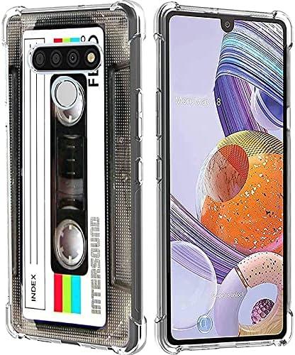 Cassette Tape LG Stylo 6 Case, Cool Vintage 80s 90s Music Cassette Mixtape Retro Phone Case for Women Men Boys Girls Matte Finish Soft Slim Back Cover Bumper Protective TPU Cassette Tape Case