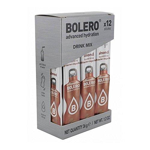 BOLERO STICK 3g CONFEZIONE DA 12bustine da 3g, ideali per 500ml di acqua (GUSTO MANDORLA) - NT INTEGRATORI