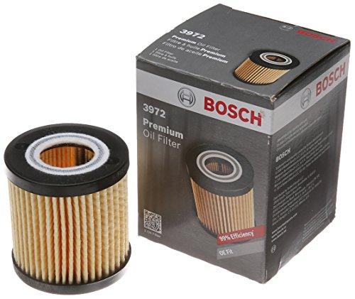 Bosch 3972 Premium FILTECH Oil Filter for Select Lexus ES350, GS200t, GS300 Toyota Camry, Highlander, RAV4, Sienna, Tacoma, Venza