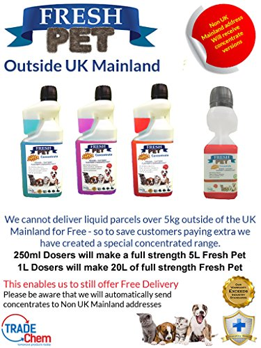 Trade Chemicals FRESH PET ECO Refill to make 4x5L Kennel, Cattery, Pet Disinfectant, Cleaner (TROPICAL PACK) 5