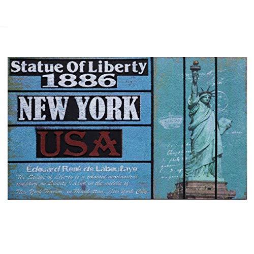 Home Line Felpudo Entrada Casa Fotoimpresión New York. Decoración de Hogar 45x75 cm