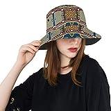 Mexicano Vintage Tribal Étnico Nuevo Verano Unisex Algodón Moda Pesca Sol Bucket Sombreros para niños Adolescentes Mujeres y Hombres.