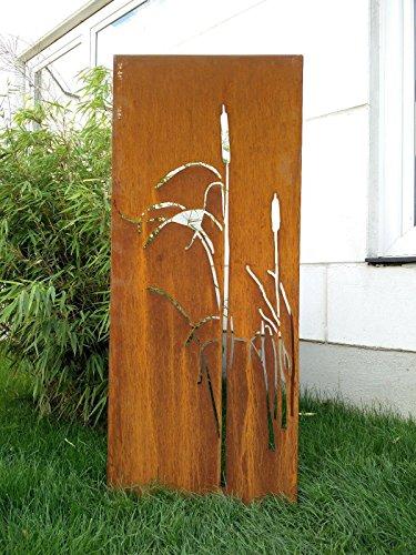Zen Man Garten Sichtschutz aus Metall Rost Gartenzaun Gartendeko edelrost Sichtschutzwand 031477-4 125 * 50 * 2CM