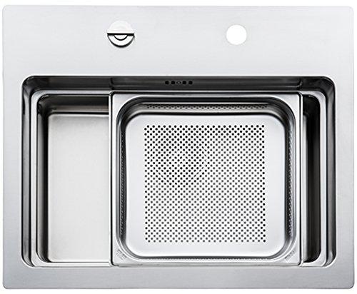 Rieber water estación Cubic 600 Light de juego de fregadero de cocina de acero inoxidable/incluido ZENTA 1/grifo
