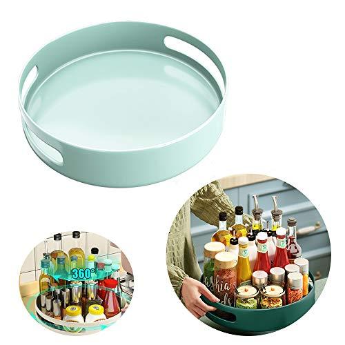 LDJ Especiero Giratorio para Cocina Bandeja 360º Giratoria Redonda Organizador De Armarios Grande Sin BPA, para Aparador O Armarios De Cocina Cuarto