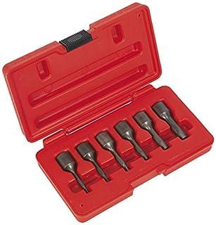 Sealey ak8185 Juego de extractor de tornillos (6 piezas, toma cuadrada de 3/