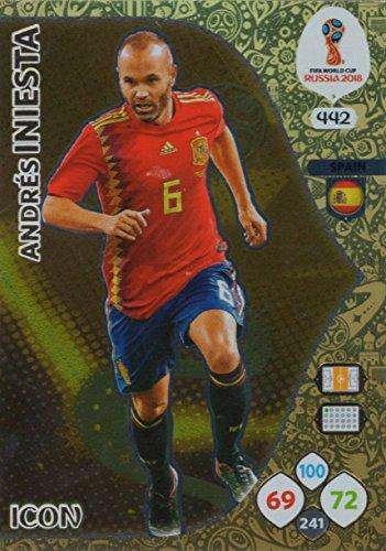 Adrenalyn XL FIFA World Cup 2018Rusia–Tarjeta de comercio de icono Andrés Iniesta–España # 442