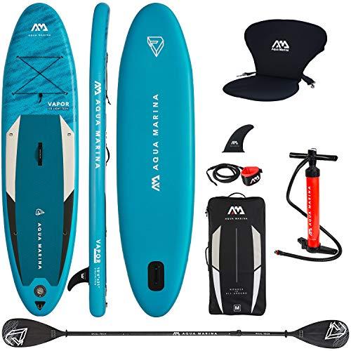 Aqua Marina Vapor 2019 Planche Gonflable avec sicge Kayak et Double pagaie 300 x 76 x 12 cm
