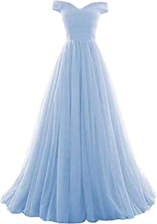 Romantic-Fashion Damen Ballkleid Abendkleid Brautkleid Lang Modell E270-E275 Rüschen Schnürung Tüll DE