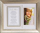 in Loving Memory Sentiment Memorial Picture Frame- Silver Sympathy Gift (Without Scripture)