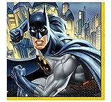 Unique Party 49902 - 6,5 'Tovaglioli di carta Batman, confezione da 16 pezzi