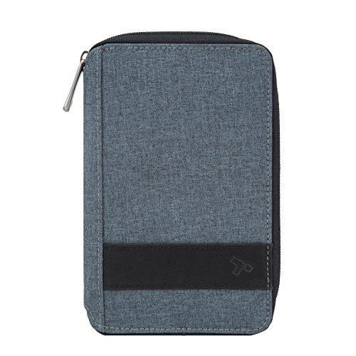 Travelon RFID Blocking Multi-Passport Holder, Slate, 7.75 x 5 x .75
