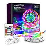 DAYBETTER Multi-Color Chasing in One Line Led Strip Lights 65ft, IC Chips SMD 5050 RGB Led Lights with Remote Control for Bedroom