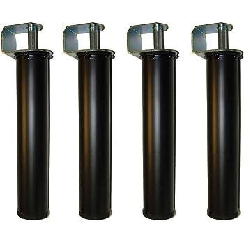 Imex El Zorro Juego 4 Patas canapé, Metal, Neutro,270 mm de alto y Ø50 mm: Amazon.es: Hogar