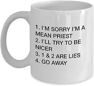 Las mejores ideas de regalos para el sacerdote Lo siento, soy un sacerdote malo Taza de café sarcasmo divertido Taza de té