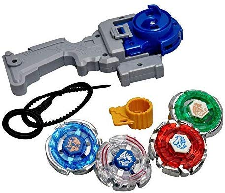 Special Design 4 in 1 Beyblades Metal Fighter Fury with Metal Fight Ring and Handle Launcher - (Multicolor)