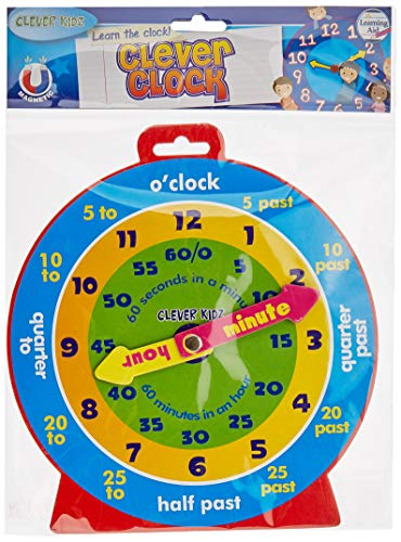 Premier Stationery Clever Kidz Magnetic Clever Clock as Mentioned H2754992