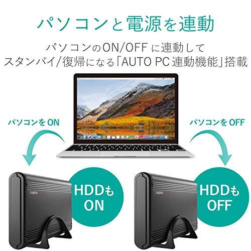 ロジテック外付けハードディスクケース3.5インチUSB3.0USB3.1(Gen1)SATA3TV対応電源連動機能搭載アルミボディLGB-EKU3