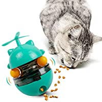 ❤【Tumbler Design】No batteries needed to rotate. It will shake back and forth to attract the cat's attention when the cat is playing, which helps to improve the cat's IQ and relieve anxiety. Reduce the sense of boredom during the game so that the cat ...