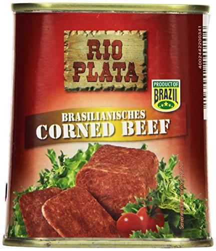 Hereford Corned Beef 6er Pack I 6 x 340 g I gepökeltes Rindfleisch zerkleinert und in eigenem Saft gekocht I original Hereford Corned Beef I ausgewähltes Rindfleisch