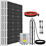 ECO-WORTHY 24V 400W Submersible Solar Well Pump Kit, 3'' Solar Water Pump, 16ft Cable for Off-grid Area Irrigation, Water Supply, Circulation, Garden
