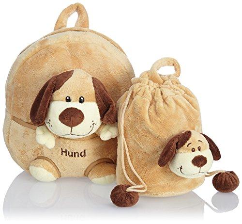 HAUPTSTADTKOFFER Kinder-Rucksack Kinderrucksack 4.5 Liter Braun HKK-2360-Hund