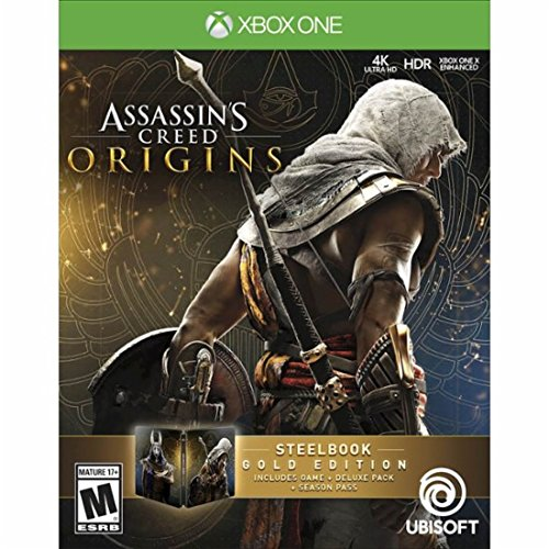 Assassin's Creed Origins Gold SteelBook Edition Xbox One アサシンクリード オリジンズゴールド スティールブック版北米英語版 [並行輸入品]