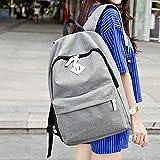 Chytaii Bolsa de Estudiante de Moda Bolso de Escuela Moda Casual Laptop Backpack Mochila, para Chico Chica Hombre Muje, Tela de Lona, Negro o Gris