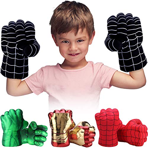Toydaze Superhero Toys Fists for Boys, Infinity Gloves Superhero Costumes Hands, Black