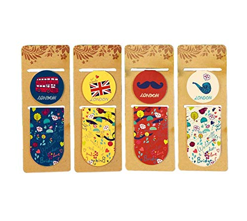 London Series Magnetic Bookmark for Men Women, 8 Pieces Ramdom Pattern