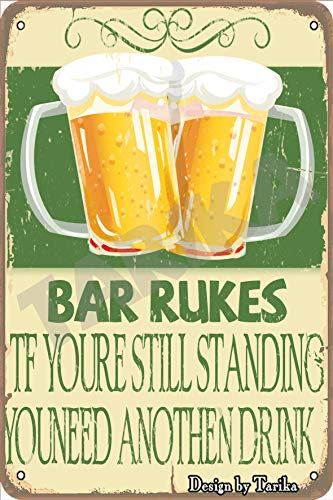 You Need Avother Drink. Vintage Look 20X30 cm Iron Decoration Poster Sign for Bar bar Street Dance Hall Drink Beer Cheers Pub Restaurant Inspirational Quotes Wall Decor