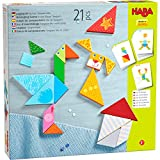 HABA 305777-Legespiel Bunter Tangram-Mix, Legespiel AB 3 Jahren, Made in Germany Juego de Piezas, Color carbón (305777)