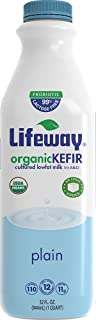 Lifeway, Organic Low Fat Kefir, Plain, 32 oz