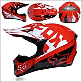 Tangzhi Motocross Off Road Casco Gafas de Regalo Máscaras Guantes Fox Motociclismo Racing Casco Integral para Hombre y Mujer (Color : B, Size : M)