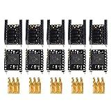 CLJ-LJ Accesorios para placa base 3D TMC5161 controlador + pinza en línea kit x5 piezas Nema17/23