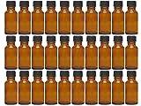 Vitrea 12/20/24 pezzi 20 ML Goccia Bottiglia in vetro con Set Goccia Colore marrone Capacità 20 ML Mini Bottiglia farmacia Dosaggio di liquidi E-Liquids, 20 pezzi