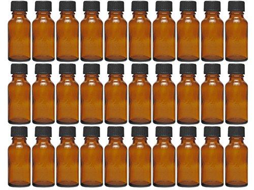 hocz 10 x 30 ml Tropfflasche Mini Glasflaschen mit Tropfeinsatz | Farbe Braunglas | Füllmenge: 30 ml | Apothekerflasche | Dosierung von Flüssigkeiten E-Liquids